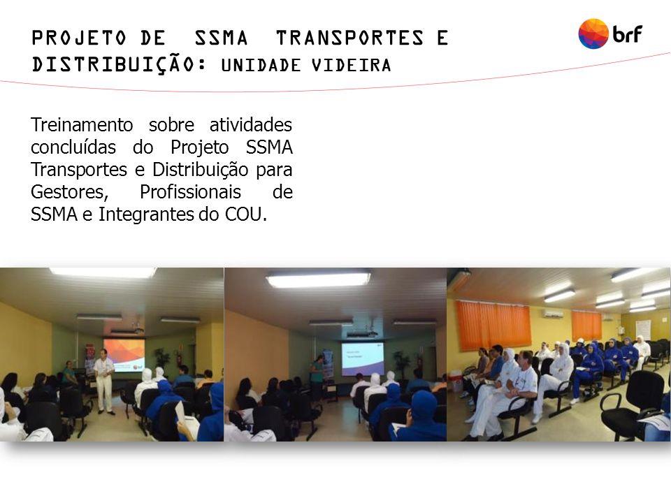 Treinamento sobre atividades concluídas do Projeto SSMA Transportes e Distribuição para Gestores, Profissionais de SSMA e Integrantes do COU. PROJETO