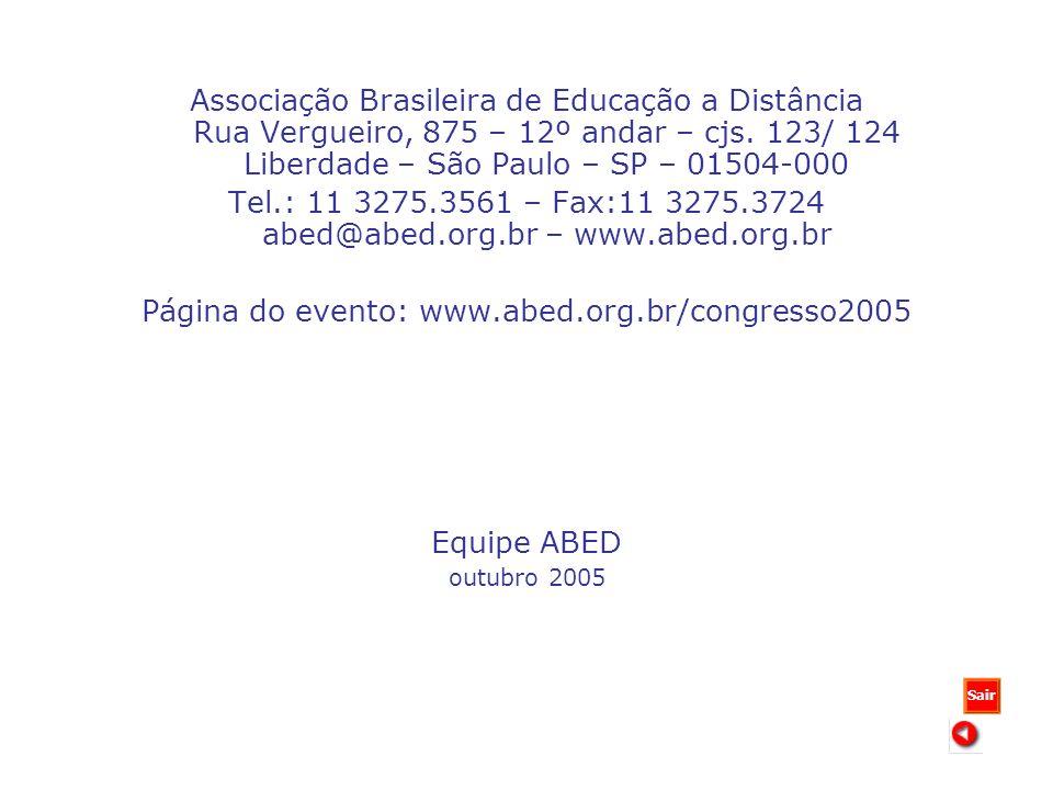 Associação Brasileira de Educação a Distância Rua Vergueiro, 875 – 12º andar – cjs.