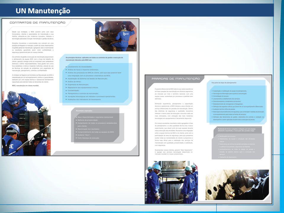 UN Manutenção EXECUÇÃO DE PARADAS – ETAPAS PRINCIPAIS REUNIÃO DE PASSAGEM DO CONSOLIDADO ABERTURA DE OS (DEFINIÇÃO DE ROP E RCR) ELABORAÇÃO DO PFF REUNIÃO DE AIS – AUTORIZAÇÃO PARA INICIO DOS SERVIÇOS ELABORAÇÃO DO PPRA E PCMSO ELABORAÇÃO DO PEO – PROCEDIMENTO ESPECÍFICO DA OPERAÇÃO ELABORAÇÃO DO PPB – PLANO DE PREPARATIVOS BASICOS EMISSÃO DAS RPs / MOBILIZAÇÃO INICIAL DE RECURSOS DESENVOLVIMENTO DO PLANEJAMENTO DA PARADA EXECUÇÃO DA PRÉ-PARADA MOBILIZAÇÃO FINAL DE RECURSOS EXECUÇÃO DA PARADA ACOMPANHAMENTO E CONTROLE DA PARADA RTF / BOOK DE CQ DESMOBILIZAÇÃO DA PARADA