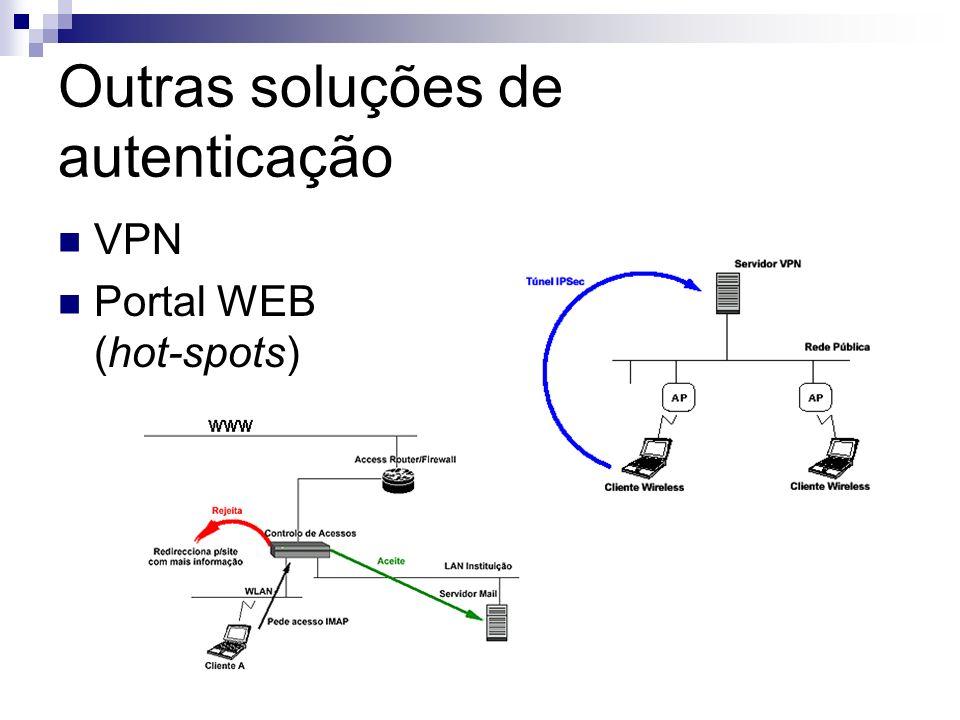 Outras soluções de autenticação VPN Portal WEB (hot-spots)
