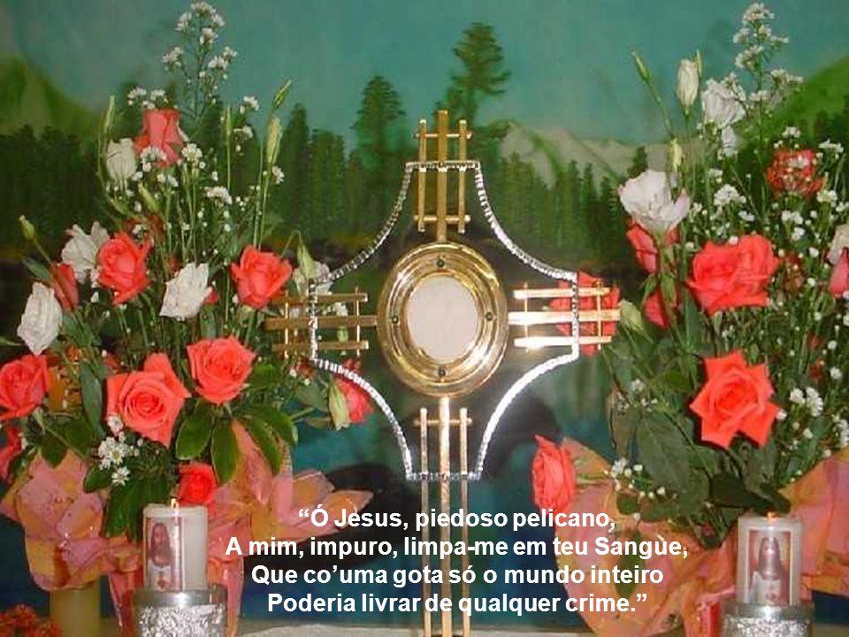 Ó memorial da morte do Senhor! Pão vivo que concedes vida ao homem, Faz que minha alma de Ti sempre viva E um sabor doce sinta sempre em Ti.