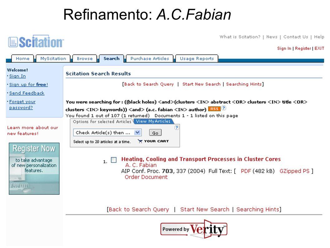Refinamento: A.C.Fabian