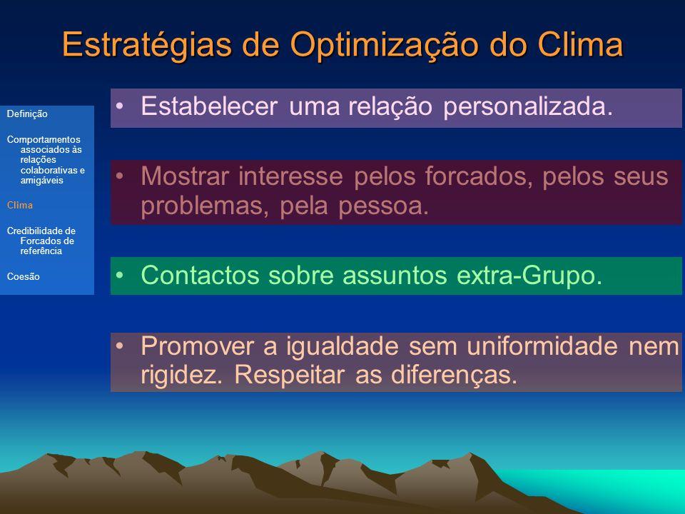 Estratégias de Optimização do Clima Estabelecer uma relação personalizada.