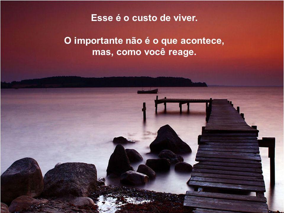 Impossível atravessar a vida... Sem que um trabalho saia mal feito, sem que uma amizade cause decepção, sem padecer com alguma doença, sem que um amor