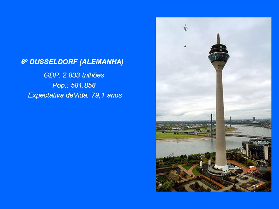 7º MUNICH (ALEMANHA) GDP: $ 2.833 trilhões Pop: 1.332.650 Expectativa de vida: 79,1 anos