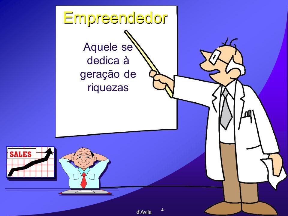 4 4 d´Avila Empreendedor Aquele se dedica à geração de riquezas
