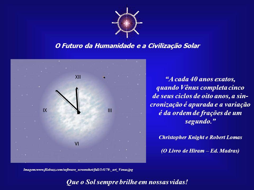 O Futuro da Humanidade e a Civilização Solar Que o Sol sempre brilhe em nossas vidas! A cada oito anos, Vênus determina um instante em que o calendári