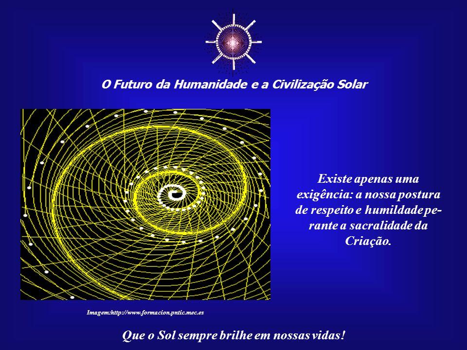 O Futuro da Humanidade e a Civilização Solar Que o Sol sempre brilhe em nossas vidas! Assim, a busca das conexões cósmicas, que nos transformarão em i