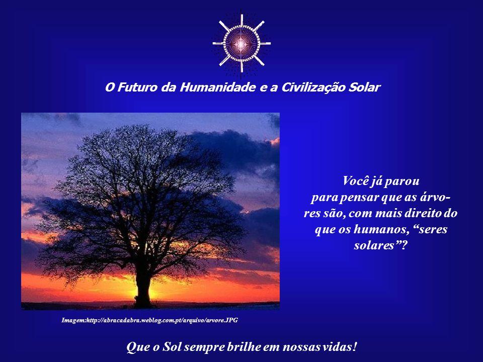 O Futuro da Humanidade e a Civilização Solar Que o Sol sempre brilhe em nossas vidas! Mas há seres que fazem isso com mais dedica- ção e eficiência do