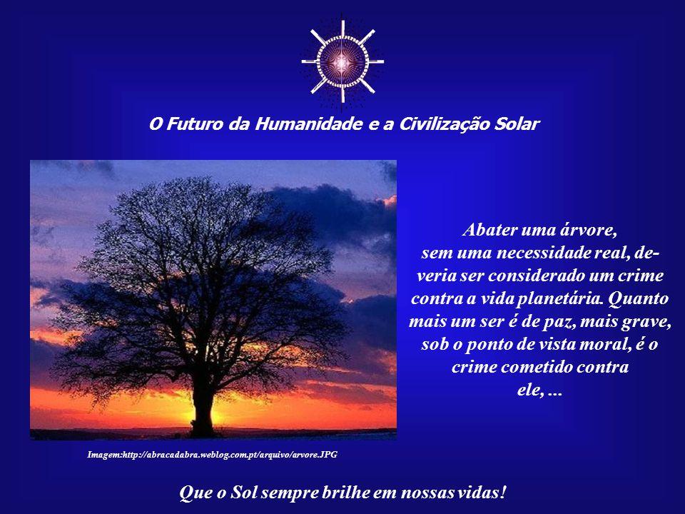 O Futuro da Humanidade e a Civilização Solar Que o Sol sempre brilhe em nossas vidas! A manifestação dessas ondas de amor ocorre de mui- tas formas: s