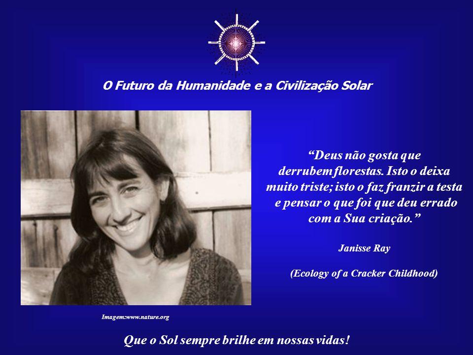 O Futuro da Humanidade e a Civilização Solar Que o Sol sempre brilhe em nossas vidas! Se está manejando a serra ou a tesoura, arrancando as árvores do