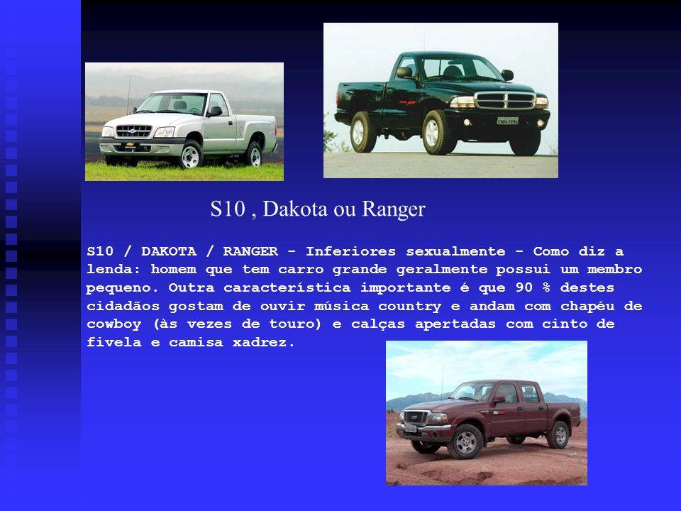 S10 / DAKOTA / RANGER - Inferiores sexualmente - Como diz a lenda: homem que tem carro grande geralmente possui um membro pequeno. Outra característic