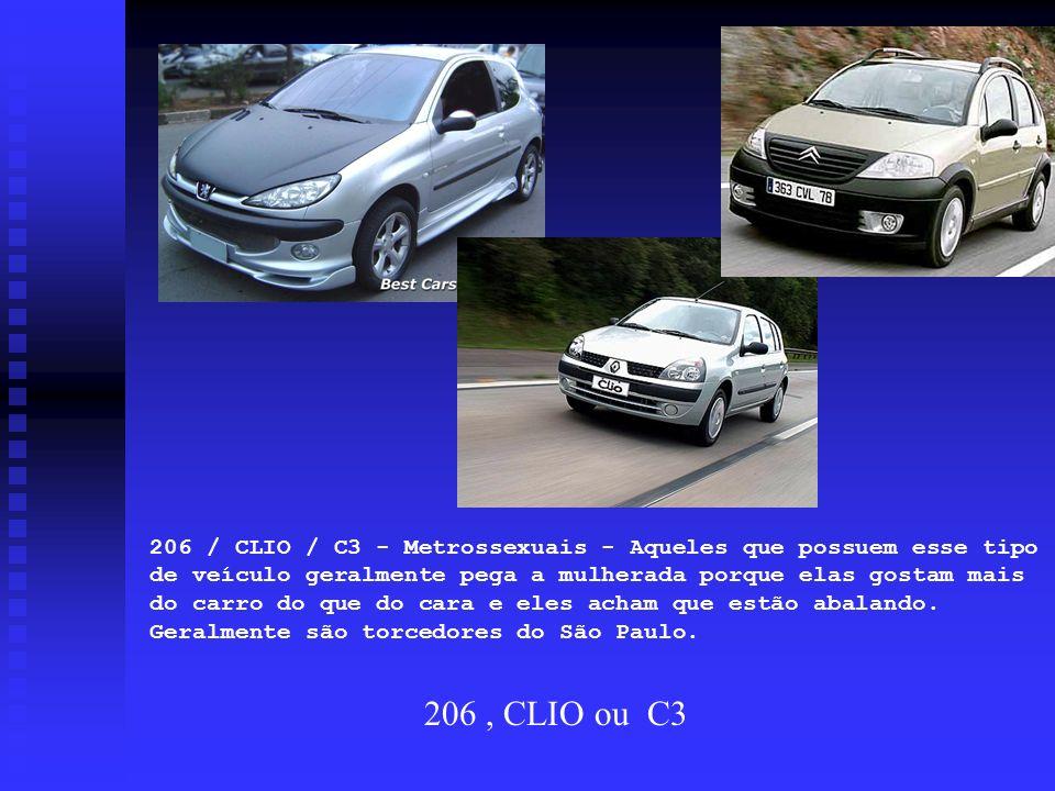 206 / CLIO / C3 - Metrossexuais - Aqueles que possuem esse tipo de veículo geralmente pega a mulherada porque elas gostam mais do carro do que do cara