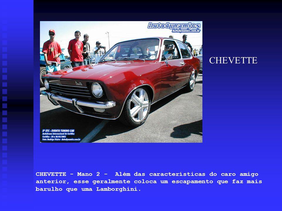 CHEVETTE - Mano 2 - Além das características do caro amigo anterior, esse geralmente coloca um escapamento que faz mais barulho que uma Lamborghini. C