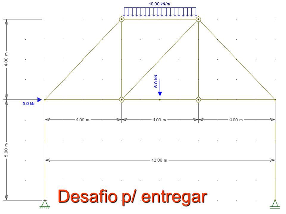 Dep. de Engenharia Mecânica ( Mecânica dos Sólidos II – André S. Casagrande) Introdução ao Ftool, Mastan e Ansys Desafio p/ entregar