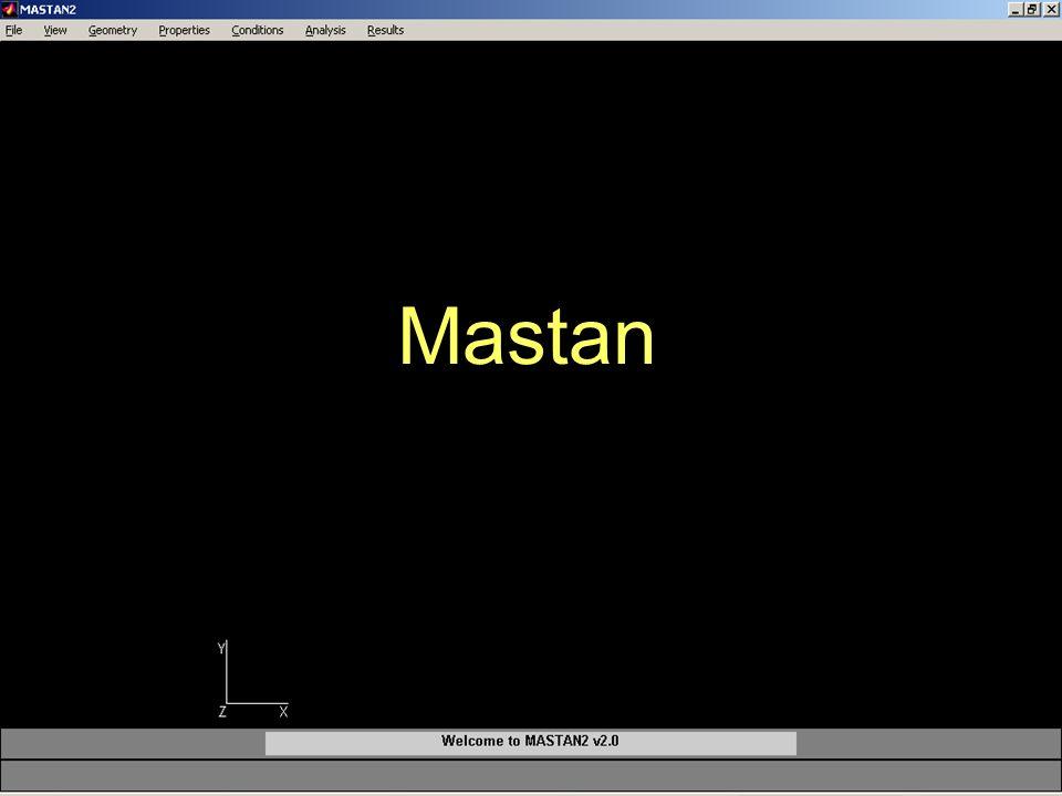Dep. de Engenharia Mecânica ( Mecânica dos Sólidos II – André S. Casagrande) Introdução ao Ftool, Mastan e Ansys Mastan
