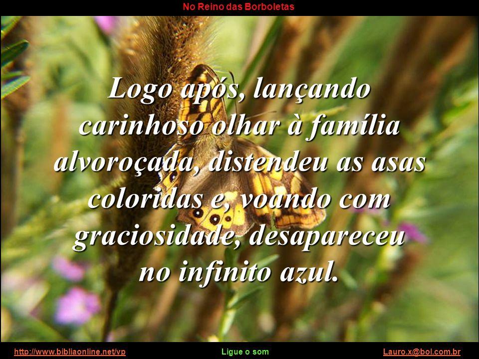 http://www.bibliaonline.net/vp Ligue o som Lauro.x@bol.com.brhttp://www.bibliaonline.net/vpLauro.x@bol.com.br No Reino das Borboletas Conhecerão a bel