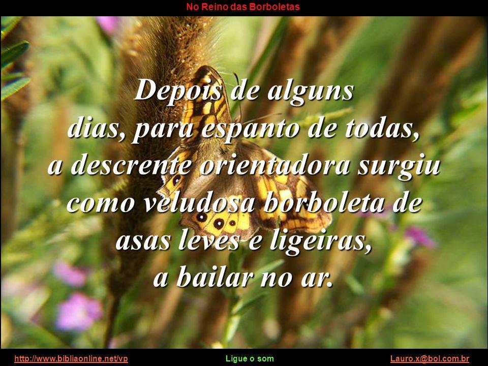 http://www.bibliaonline.net/vp Ligue o som Lauro.x@bol.com.brhttp://www.bibliaonline.net/vpLauro.x@bol.com.br No Reino das Borboletas Caiu a noite e,