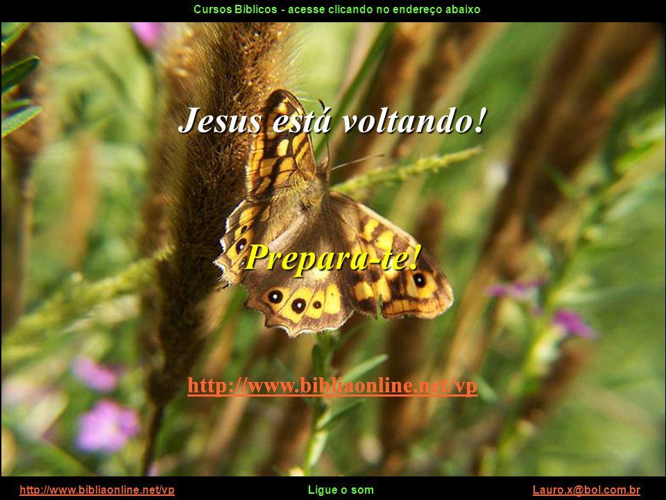 http://www.bibliaonline.net/vp Ligue o som Lauro.x@bol.com.brhttp://www.bibliaonline.net/vpLauro.x@bol.com.br No Reino das Borboletas Tenha um ótimo d