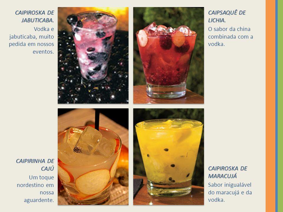 CAIPIROSKA DE JABUTICABA.Vodka e jabuticaba, muito pedida em nossos eventos.