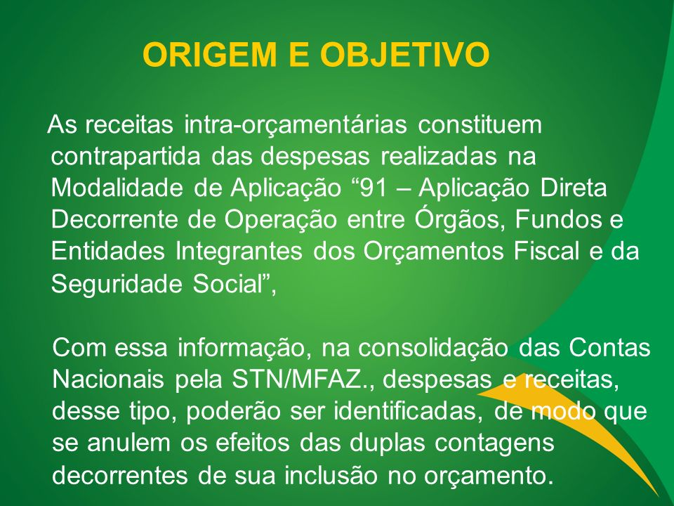 2) NO ENTANTO, SE NÃO HAVIA NA UNIDADE BENEFICIÁRIA PREVISÃO DA RECEITA CORRESPONDENTE, O CRÉDITO SUPLEMENTAR OCORRERÁ POR EXCESSO DE ARRECADAÇÃO NORMALMENTE, PROCEDENDO-SE A APLICAÇÃO DA DESPESA, EM IGUAL VALOR, COM FONTE DISTINTA DAQUELA UTILIZADA PELA UNIDADE ORÇAMENTÁRIA EMITENTE DO EMPENHO.
