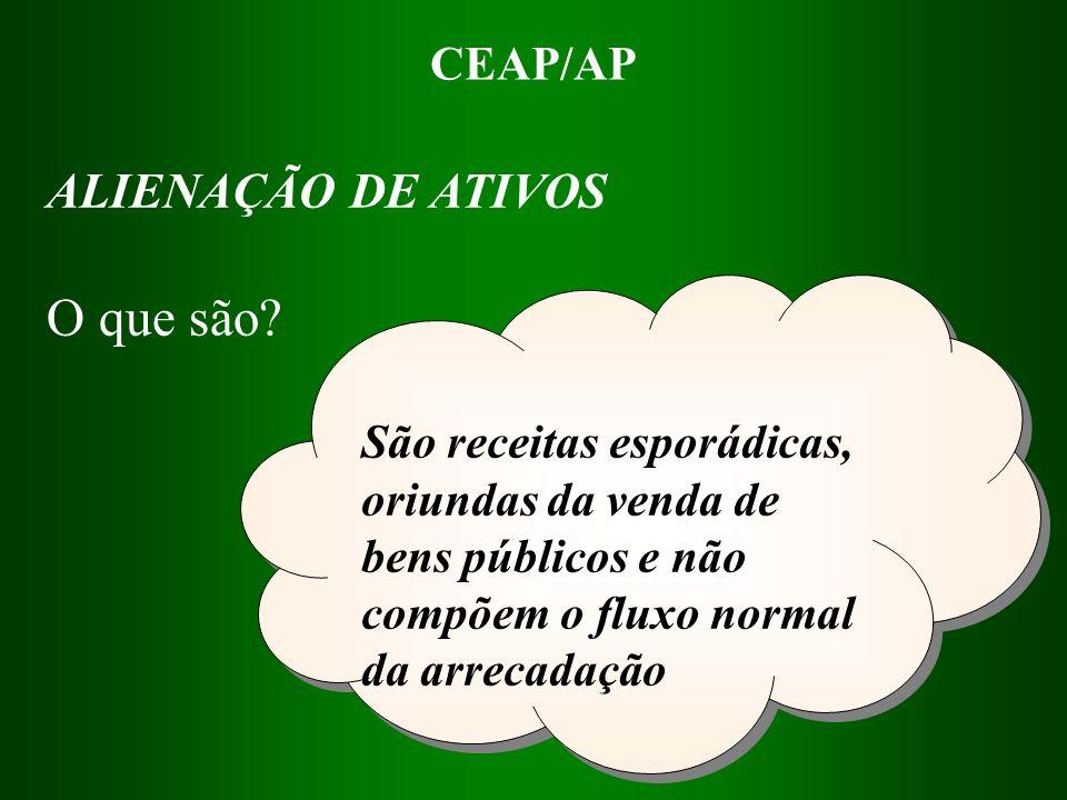 CEAP/AP São recursos recebidos de outras unidades de governo ou de unidades de dentro do próprio governo.