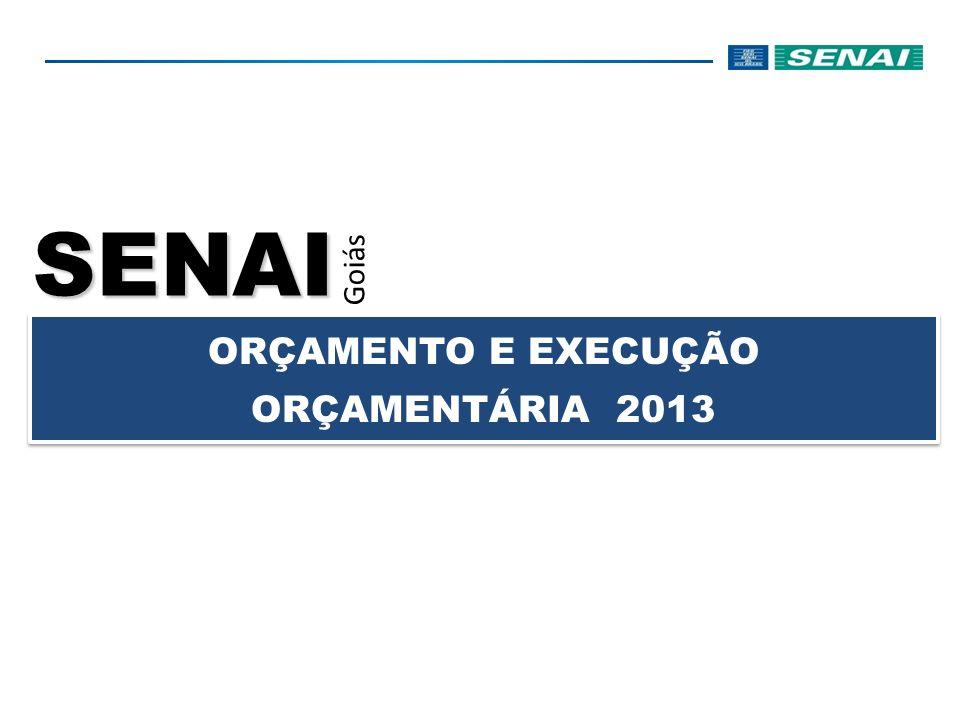 SENAI Goiás ORÇAMENTO E EXECUÇÃO ORÇAMENTÁRIA 2013