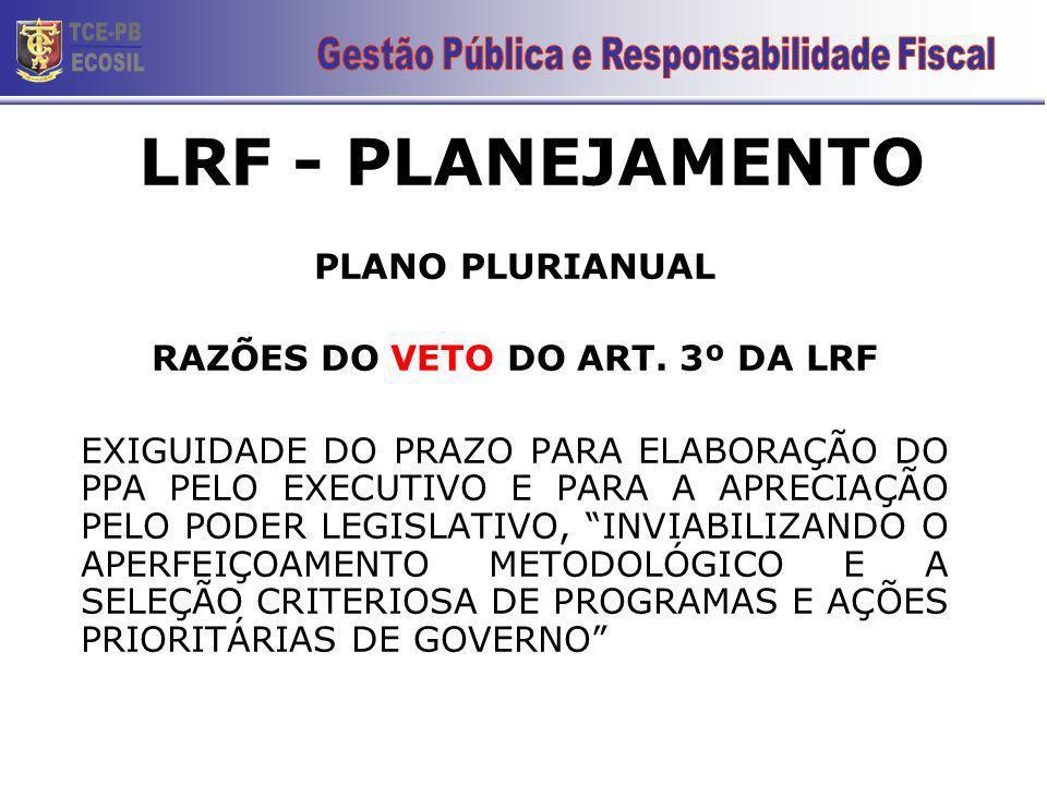 Plano Plurianual - PPA conteúdo (CF, ART.