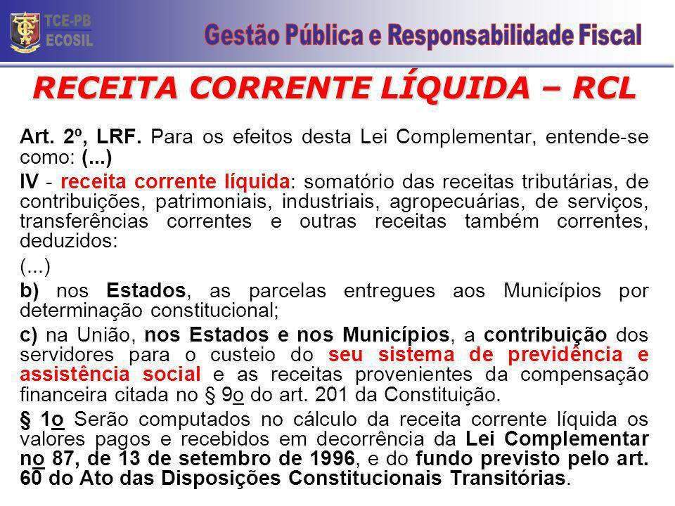 LRF – RECEITA PÚBLICA Art.11.