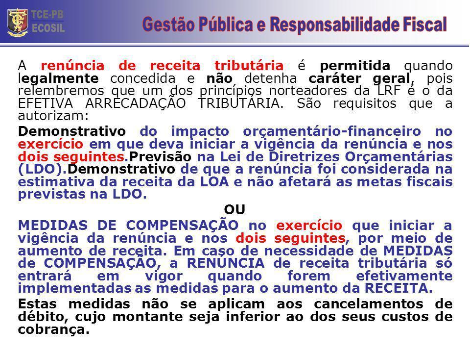 LRF – RENÚNCIA DE RECEITA Art.14.