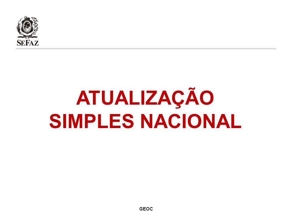 ATUALIZAÇÃO SIMPLES NACIONAL GEOC