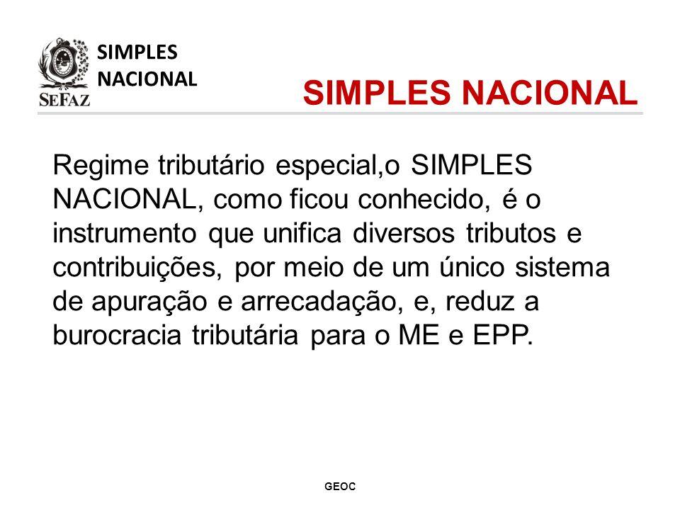 Regime tributário especial,o SIMPLES NACIONAL, como ficou conhecido, é o instrumento que unifica diversos tributos e contribuições, por meio de um único sistema de apuração e arrecadação, e, reduz a burocracia tributária para o ME e EPP.