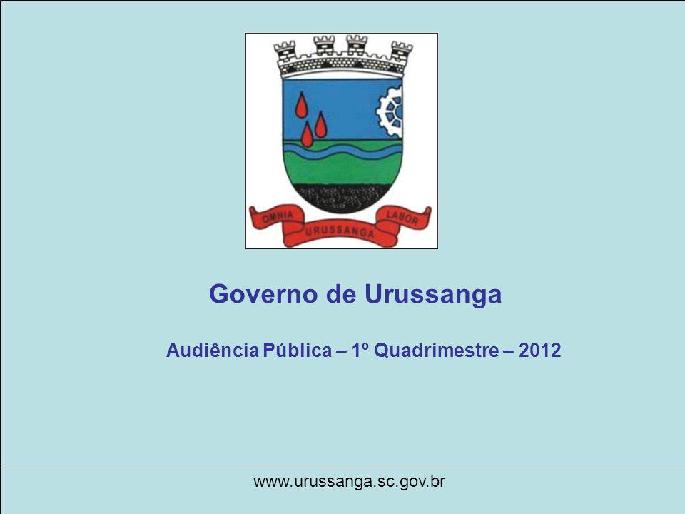 Governo de Urussanga Audiência Pública – 1º Quadrimestre – 2012 www.urussanga.sc.gov.br