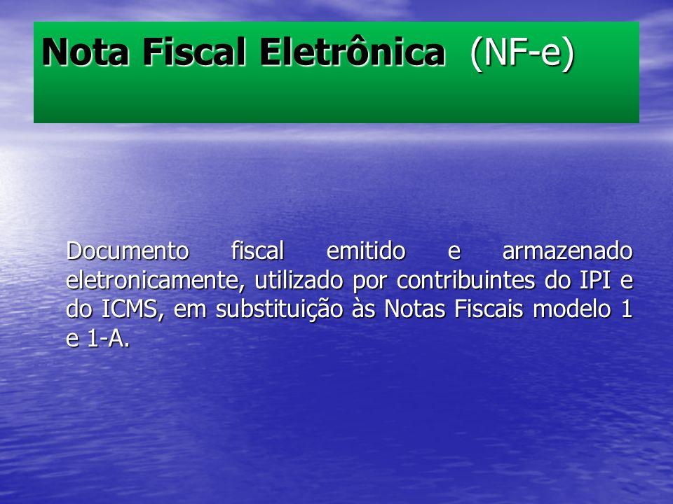 Documento fiscal emitido e armazenado eletronicamente, utilizado por contribuintes do IPI e do ICMS, em substituição às Notas Fiscais modelo 1 e 1-A.