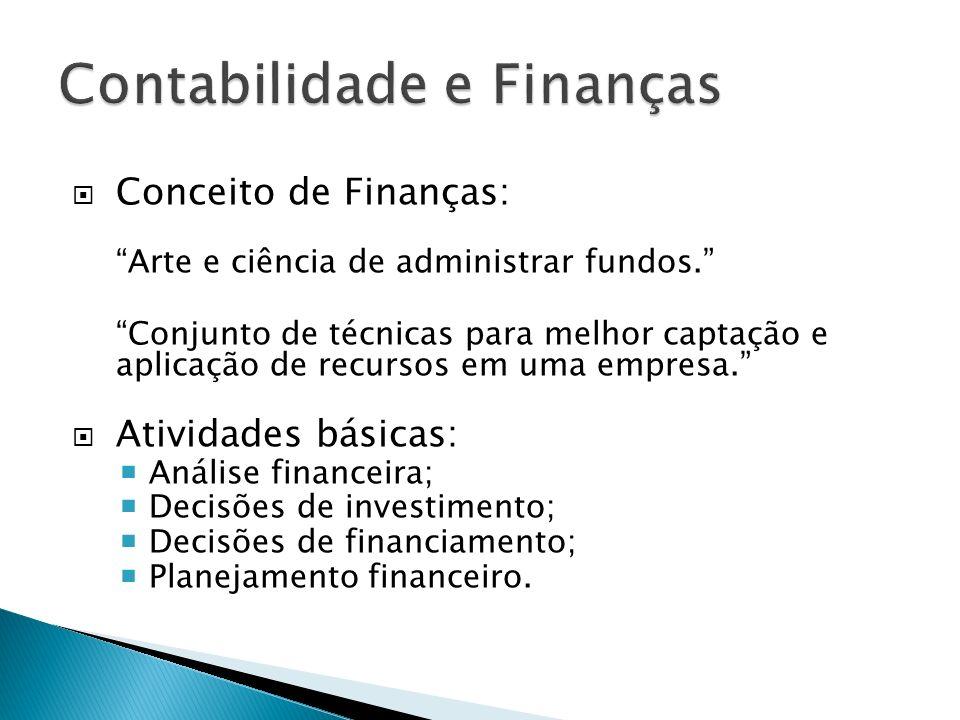 Conceito de Finanças: Arte e ciência de administrar fundos. Conjunto de técnicas para melhor captação e aplicação de recursos em uma empresa. Atividad
