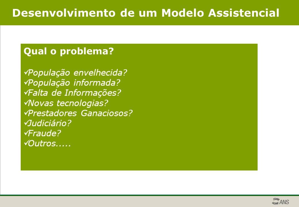 Desenvolvimento de um Modelo Assistencial Qual o problema.