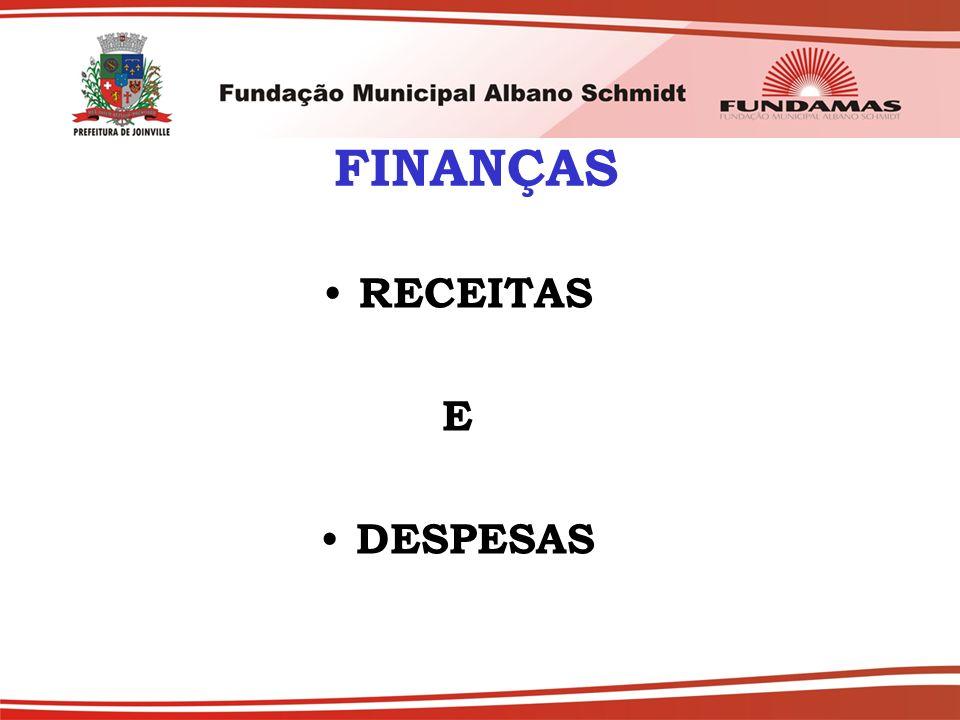 FINANÇAS RECEITAS E DESPESAS