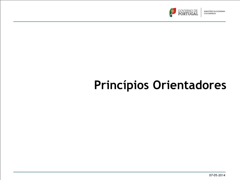 07-05-2014 Princípios Orientadores