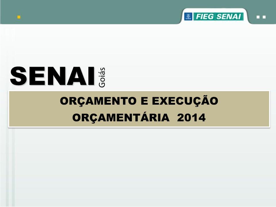SENAI Goiás ORÇAMENTO E EXECUÇÃO ORÇAMENTÁRIA 2014