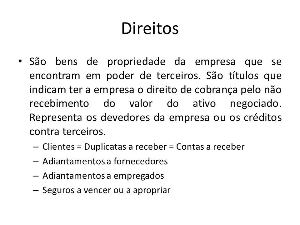 Exemplos/Exercícios - Receita Receitas são origens de recursos, logo são contas credoras.