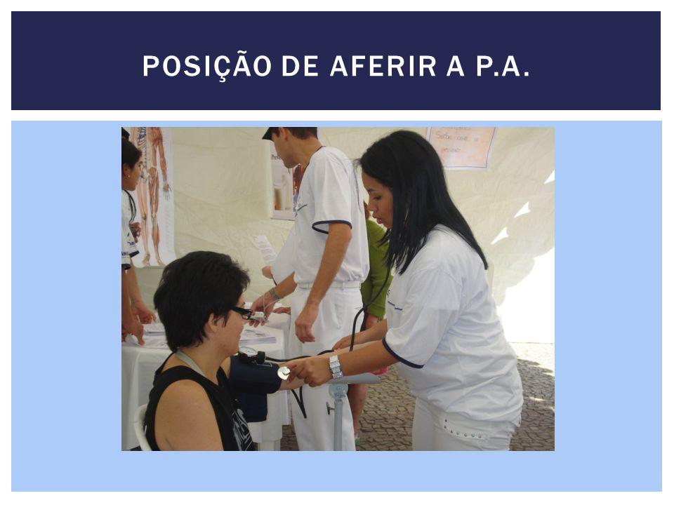 POSIÇÃO DE AFERIR A P.A.
