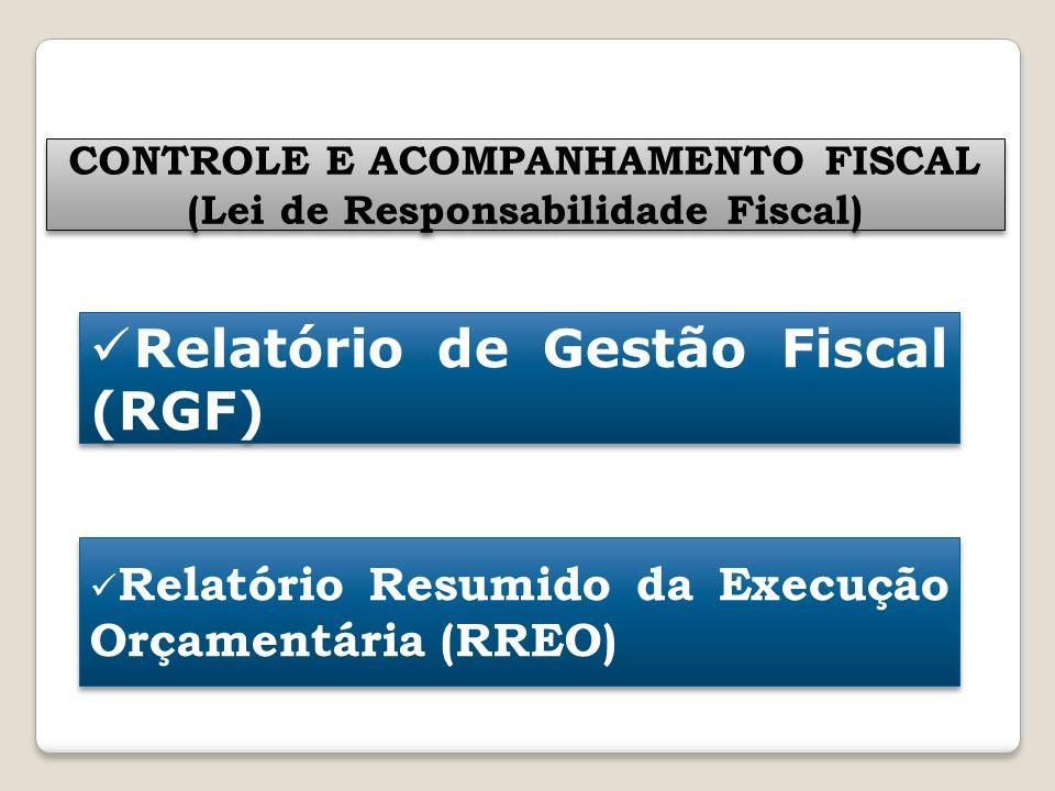 CONTROLE E ACOMPANHAMENTO FISCAL (Lei de Responsabilidade Fiscal) CONTROLE E ACOMPANHAMENTO FISCAL (Lei de Responsabilidade Fiscal) Relatório de Gestã