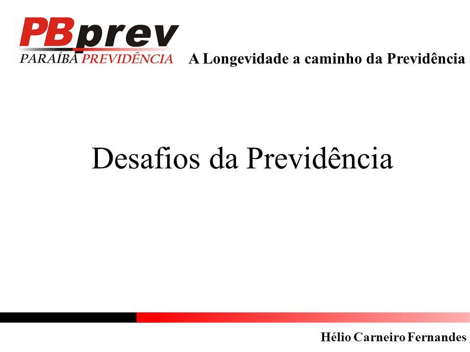 A Longevidade a caminho da Previdência Desafios da Previdência Hélio Carneiro Fernandes