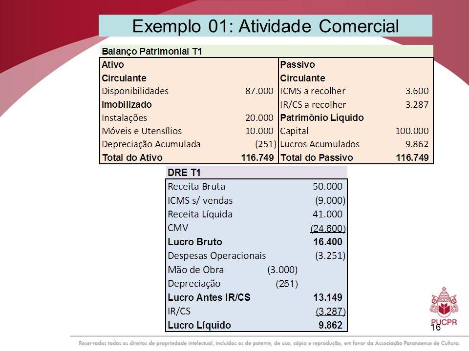 16 Exemplo 01: Atividade Comercial