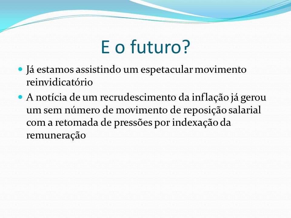 E o futuro.