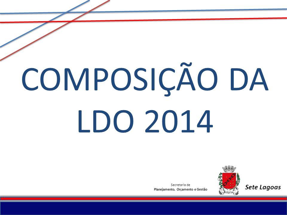 Secretaria de Planejamento, Orçamento e Gestão Sete Lagoas METAS PARA 2014 SECRETARIA MUNICIPAL DE ESPORTE E LAZER PROGRAMA DE GESTÃOAÇÃO / ETAPA / PRODUTO Gestão das Unidades Executoras --- DIRETRIZProjeto EstruturadorAÇÃO / ETAPA / PRODUTO Desenvolvimento Econômico Sete Lagoas Progressista--- Sete Lagoas Regional--- Consciência Cultural Sete Lagoas e suas Raízes Desenvolvimento dos intangíveis municipais Programa Segundo Tempo Consciência Social Sete Lagoas Humanizada --- Sete Lagoas Mais Segura --- Consciência Urbanística Sete Lagoas Sustentável Desenvolvimento das condições de Turismo, Esporte, Lazer e Entretenimento Implementação do Centro de Artes e Esportes Unificados - CEUs Implantação e implementação e gestão do Centro de Iniciação ao Esporte - CIE Reforma estrutural das quadras esportivas municipais Plano de normatização e reforma dos campos municipais de futebol Implementação e execução do Esporte Móvel - área urbana e rural - com equipamentos necessários Programa e Lazer da Cidade - PELC Implantação de novas Academias ao Ar Livre no município Construção de quadra poliesportiva coberta Sete Lagoas Integrada ---