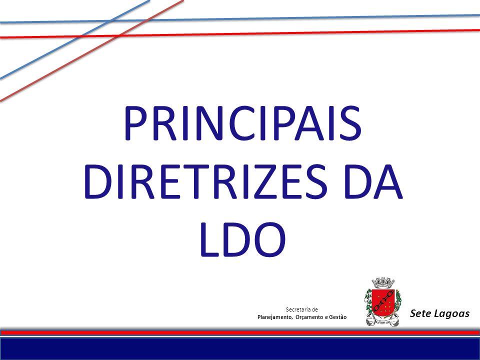 Secretaria de Planejamento, Orçamento e Gestão Sete Lagoas
