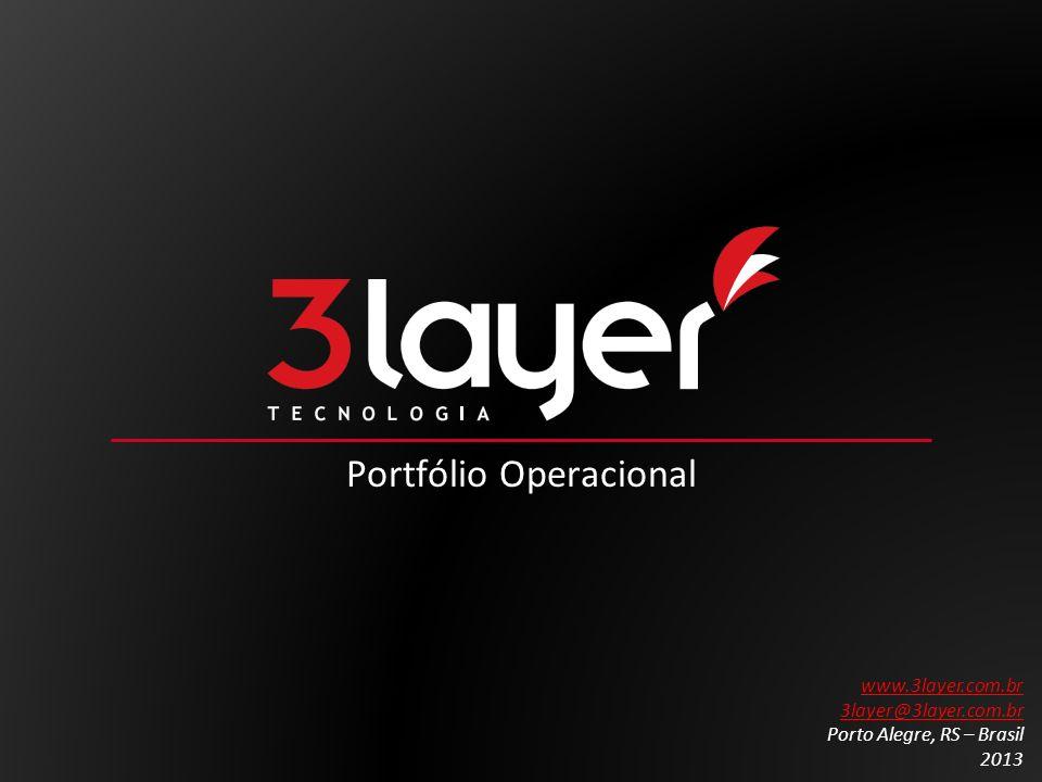 Portfólio Operacional www.3layer.com.br 3layer@3layer.com.br Porto Alegre, RS – Brasil 2013