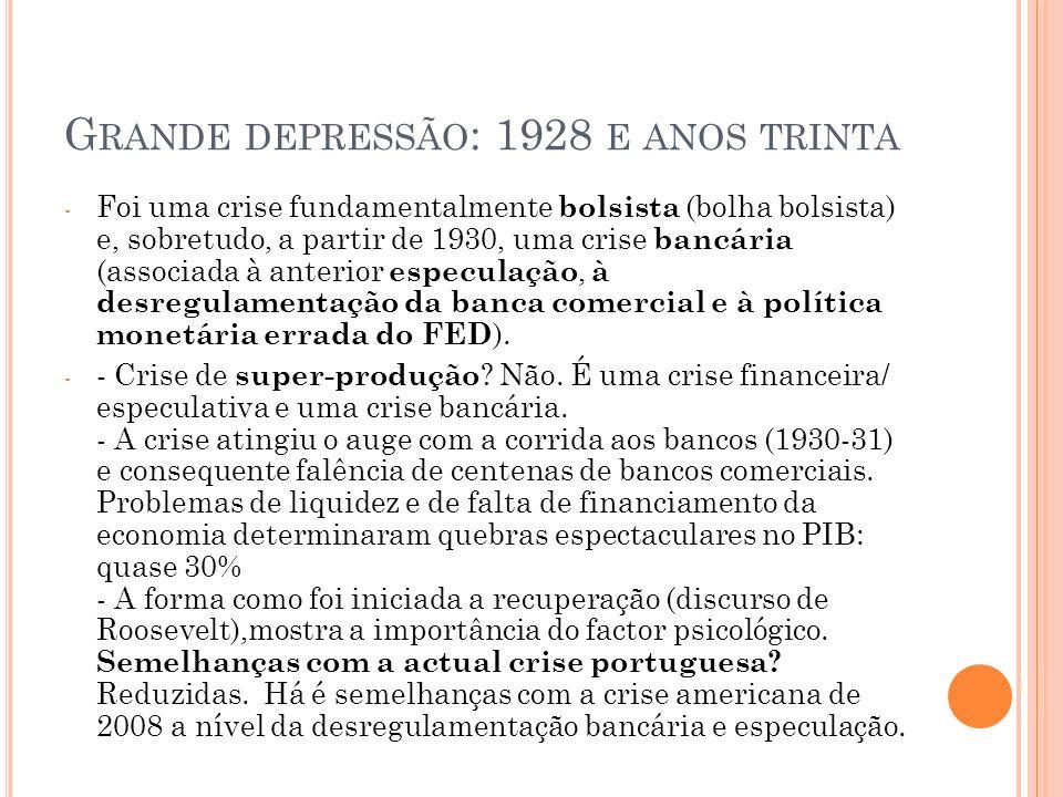 C RISE PORTUGUESA : CRISE DE ENDIVIMENTO A crise portuguesa é também em grande parte uma crise de dívida pública (e dívida privada).