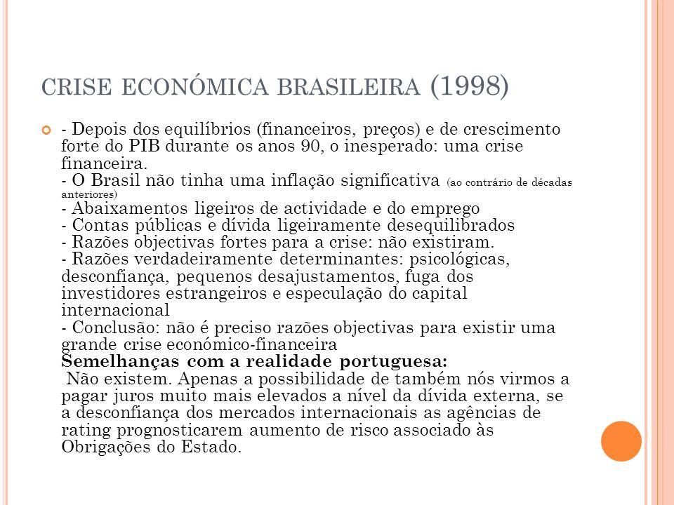C RISE ECONÓMICA PORTUGUESA II - Taxas de juro baixas (associadas à União Europeia e ao Euro, mais recentemente): favoreceram o endividamento das famílias portuguesas, a especulação imobiliária e o aquecimento económico.